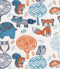 Snuggle Flannel Fabric 42\u0022-Folk Forest Creatures
