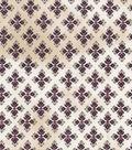 Vintage Cotton Fabric 43\u0022-Detailed Diamonds Ivory