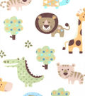 Snuggle Flannel Fabric -Baby Zoo Animals
