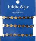 hildie & jo 18\u0022 Copper & Iron Round Flat Beads Chain-Gold