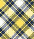 Snuggle Flannel Fabric -Annie Plaid Yellow