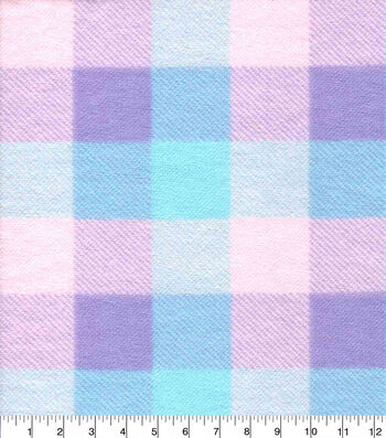 Snuggle Flannel Fabric-Pastel Buffalo Check