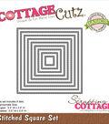 CottageCutz Basics Dies-Stitched Square, .5\u0022X.5\u0022 To 3.5\u0022X3.5\u0022