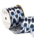 Offray 2.25\u0022 x 9\u0027 Geo Ribbon-Blue/Black/White
