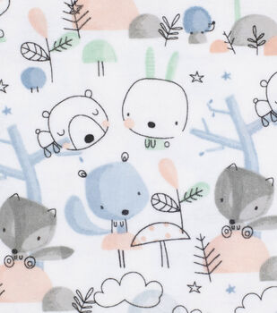 Super Snuggle Flannel Fabric-Forest Friends
