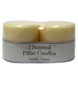 Hudson 43 Candle&Light Collection 2 Pack 3X3 Smooth Pillar Cream