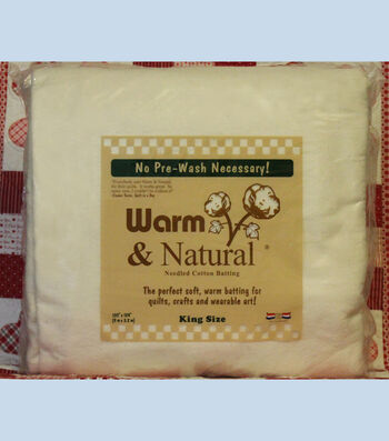 The Warm Company Warm & Natural King Cotton Needled Batting