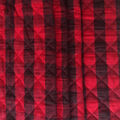 Sportswear Quilted Knit Fabric-Red & Black