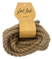 Fab Lab 3/8 in x 15 ft Jute Craft Rope, , hi-res