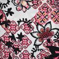 Fast Fashion Bubble Crepe Knit Fabric-Geranium Ethnic Floral