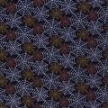 Halloween Cotton Fabric-Halloween Spider Webs Glitter