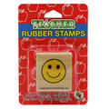 Smile Face Rubber Stamp, 6 Per Pack