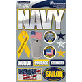 Reminisce Signature Dimensional Stickers Navy