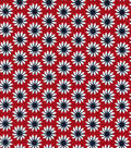 Quilter\u0027s Showcase Cotton Fabric 44\u0022-Red Navy Linear Ditsy Floral