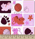 Kitty Blocks Print Fabric