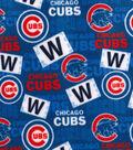 Chicago Cubs Fleece Fabric-Print