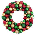 Handmade Holiday Christmas Vintage Ornament Wreath Wall Decor