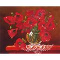 Diamond Embroidery Facet Art Kit 23\u0022X19\u0022-Red Poppies