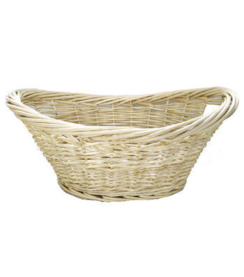 Organizing Essentials Oval Heavy Rim Willow Basket