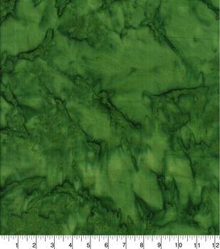 Cotton Fabric -Dark Green Tonal Batik