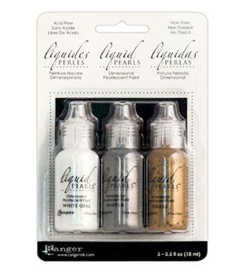 Ranger Pack of 3 Liquid Pearls Dimensional Paint-Soft Metallics