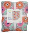 No-Sew Throw Fleece Fabric 72\u0022-Flowers On Dots
