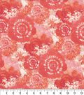 Keepsake Calico Cotton Fabric -Coral Tie Dye