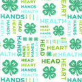4-H Flannel Fabric-Words