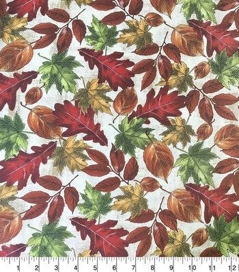 Harvest Prints Fabric-Tossed Leaves Large