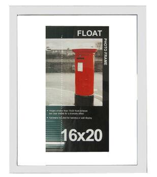 Wood Float Photo Frame 16''x20''-White