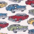 Blizzard Fleece Fabric -Classic Cars