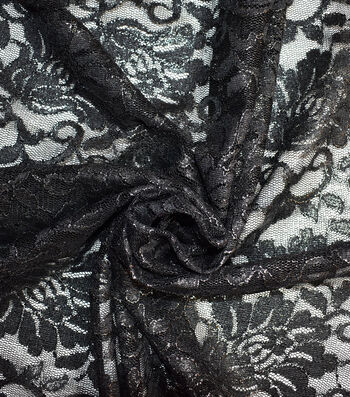 Casa Collection Stretch Foiled Lace Fabric 54''