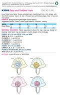 Kwik Sew Pattern K3989 Infants\u0027 Hats