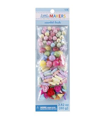 Little Maker's Flower & Round Beads-Pastel Multi