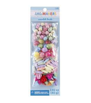 Little Makers 2.82 oz. Assorted Beads-Multi Pastel