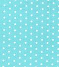 Snuggle Flannel Fabric 42\u0027\u0027-White Dots on Blue
