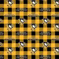 Pittsburgh Penguins Fleece Fabric-Buffalo Plaid
