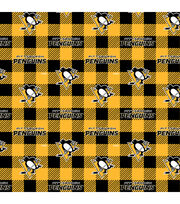 Pittsburgh Penguins Fleece Fabric-Buffalo Plaid, , hi-res