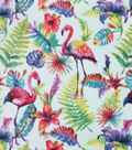 Anti-Pill Plush Fleece Fabric-Watercolor Flamingo
