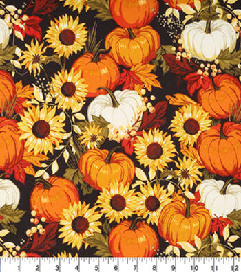 Pumpkins And Sunflowers Large