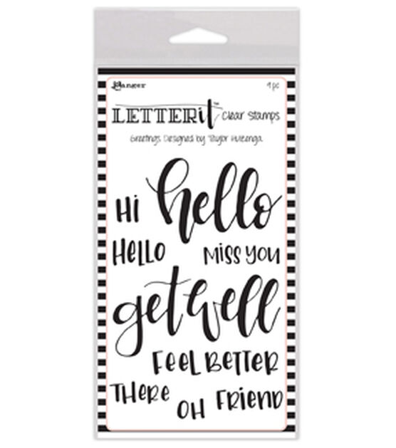 Ranger Letter It 9 pk Clear Stamps Greetings, , hi-res, image 1