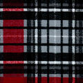 Snuggle Flannel Fabric-Red & Gray Distressed Plaid