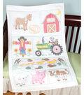Stamped White Quilt Crib Top 40\u0022X60\u0022-Barn