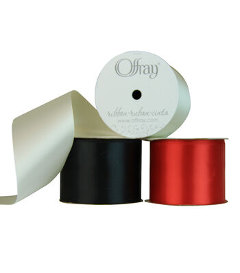 """Offray 2.25""""x21' Double Faced Satin Solid Ribbon"""