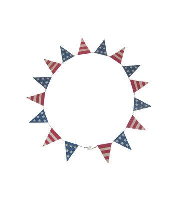 Americana Patriotic Fabric Flag Garland-Stars & Stripes