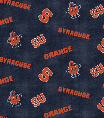 "Syracuse University Orange Flannel Fabric 42""-Logo"
