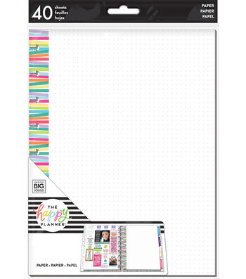 The Happy Planner Classic Note Papers-Stripe Dot
