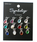 hildie & jo Symbolize 12 Pack Mini Oval Silver Birthstone Charms