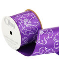 2 And One Qtr Purple Haze Floral 3 Ribbon