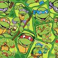 Teenage Mutant Ninja Turtles Cotton Fabric -Retro